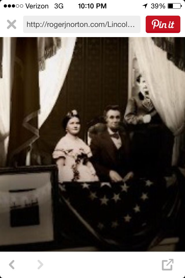 Last picture of the Lincolns?  Last picture?  Never seen this before.  With Booth?