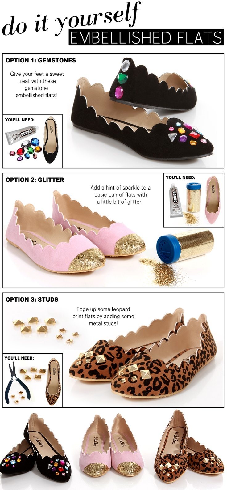 215 best accessorize with goodwill images on pinterest diy clothes diy embellished flats solutioingenieria Image collections
