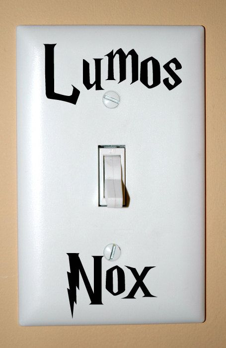 Lumos Nox Light SwitchVinyls Decals, Nox Lights, Switched Plates, Lights Switched Covers, Harrypotter, Funny Stuff, House Stuff, Funny Harry Potter, Room