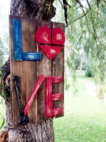 Love Steampunk Reclaimed Wood Sign - 17 Best Images About Reclaimed Wood Projects On Pinterest