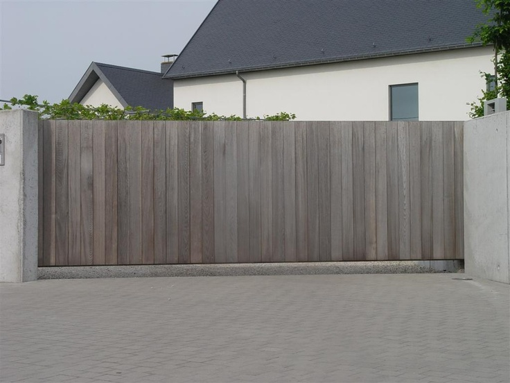 Les 167 meilleures images propos de portail et cl ture - Peindre un portail en bois ...