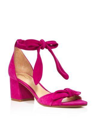 IVANKA TRUMP Ezra Suede Ankle Tie Mid Block Heel Sandals - 100% Exclusive  | Bloomingdale's