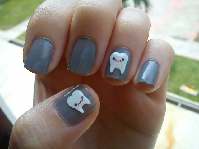 12 best dentistry nail art images on pinterest nail art tooth nails how cute prinsesfo Choice Image