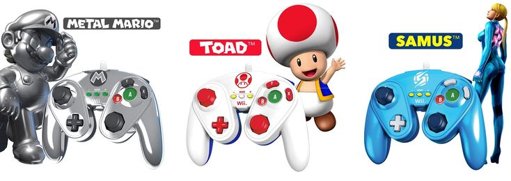 PDP's launching Metal Mario, Toad, and Zero Suit Samus Wii/Wii U Fight Pads!