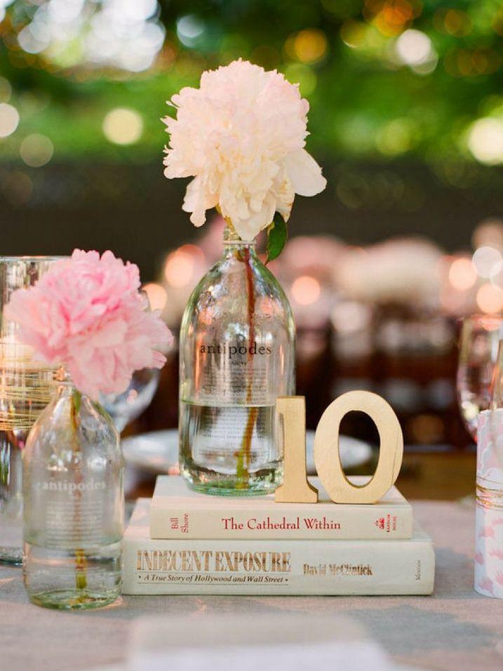 Book Centerpieces - Wedding Inspiration
