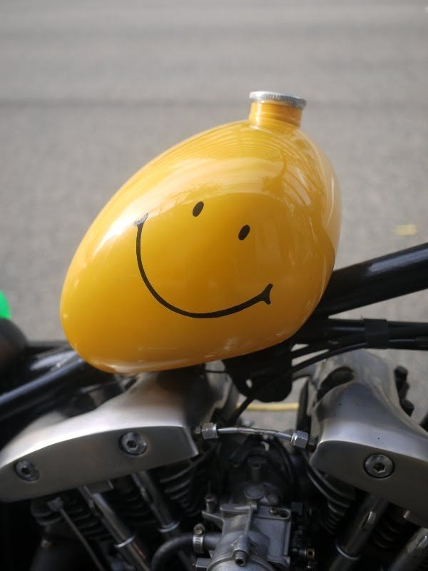 I wanna slap the smile off this thing...nothing against shovel heads.