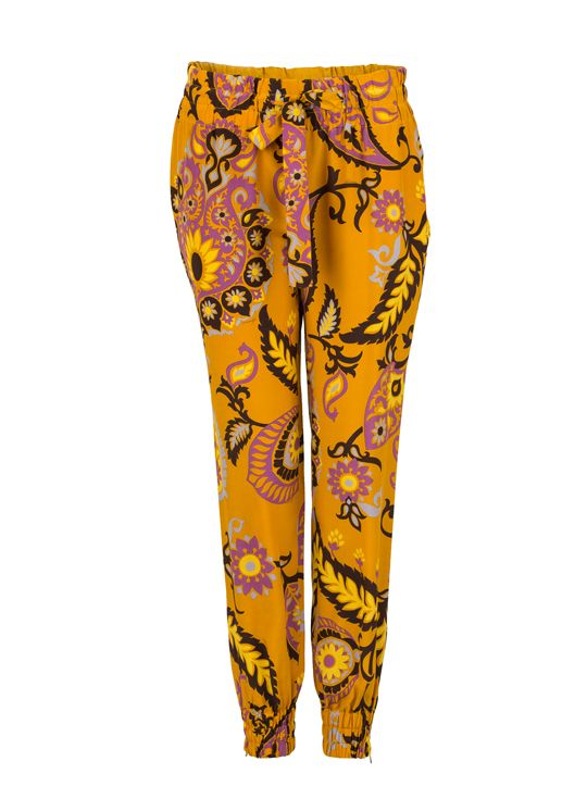 Trousers with flower prints from #Gucci