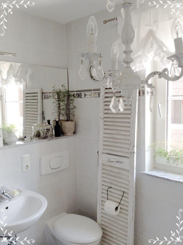 die besten 25 shabby chic badezimmer ideen auf pinterest. Black Bedroom Furniture Sets. Home Design Ideas