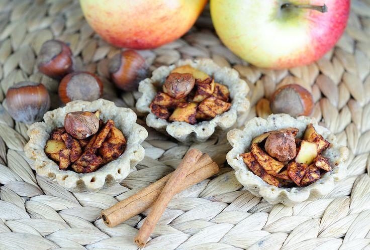 Pohankové košíčky s jablkem a ořechy