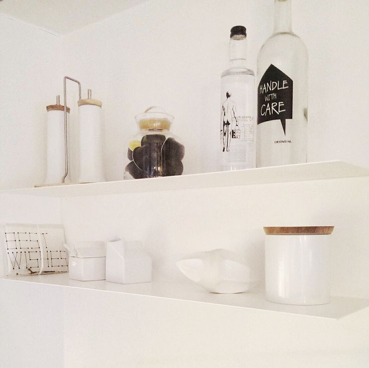 Scandinavian home. IKEA shelf.