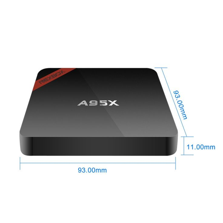 NEXBOX A95X Amlogic S905X 1GB/8GB 64-Bit 4K x 2K Android 6.0 OS H.265 WiFi 2.4G Dolby DTS Mini TV Box US Plug Black - Tmart