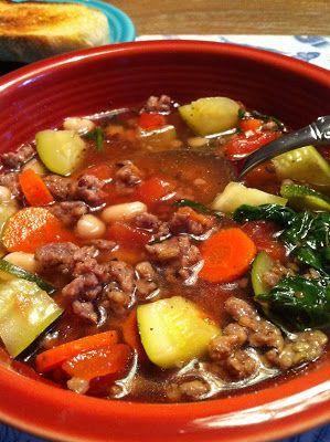Super Easy Italian Sausage Soup - Feeding Big  ☀CQ #soup   http://www.pinterest.com/CoronaQueen/soups-stews-and-chili/