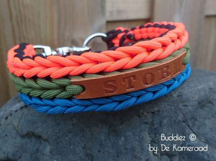 Paracord dog collar  Paracord halsband All handmade www.buddiezbydekameraad.nl