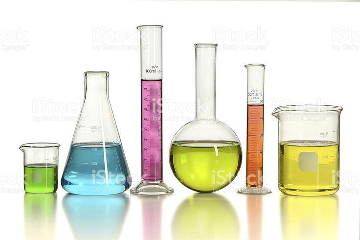 Material de vidrio de laboratorio foto de stock libre de derechos