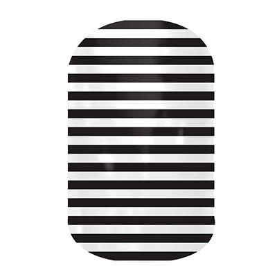 Black & White Skinny by Jamberry Nail Wraps. Filled with classic lines and fun polka dots, the Dotted Line collection is perfect to wear with our bolder wraps or wear on their own. Appropriate for any setting, these wraps are an essential part of any nail lover's collection. Lasts up to 2 weeks on fingernails and 4 weeks on toenails.