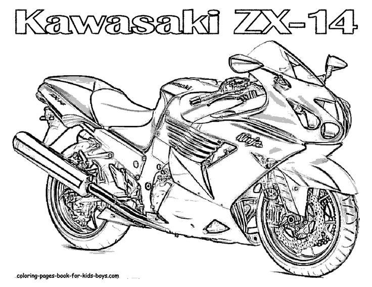 motorcycle coloring pages Motorcycle Coloring Book Pages