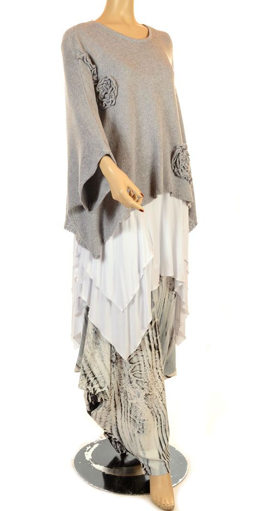 Jean Marc Philippe Funky Snake & Animal Print Jersey Harem Trouser...neutral cool tones.
