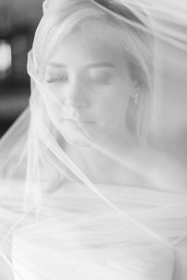 Beautifully veiled.  Read more - http://www.stylemepretty.com/2014/01/17/elegant-farm-to-table-wedding-at-farmstead-restaurant/