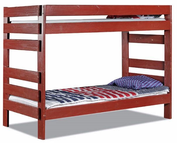 Tribeca Extra Long Twin Over Twin Colored Bunk Bed $750. Available In 10  Colors (