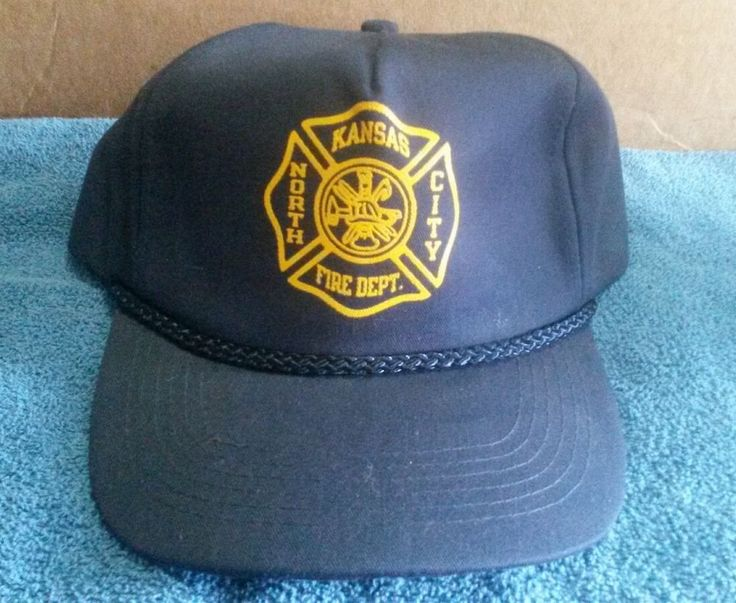 North KCMO Kansas City Fire Department Navy Blue Adjustable Hat w/ Lining KC MO