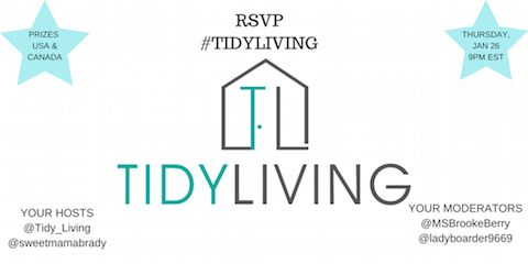 get organized at the tidy living twitter party