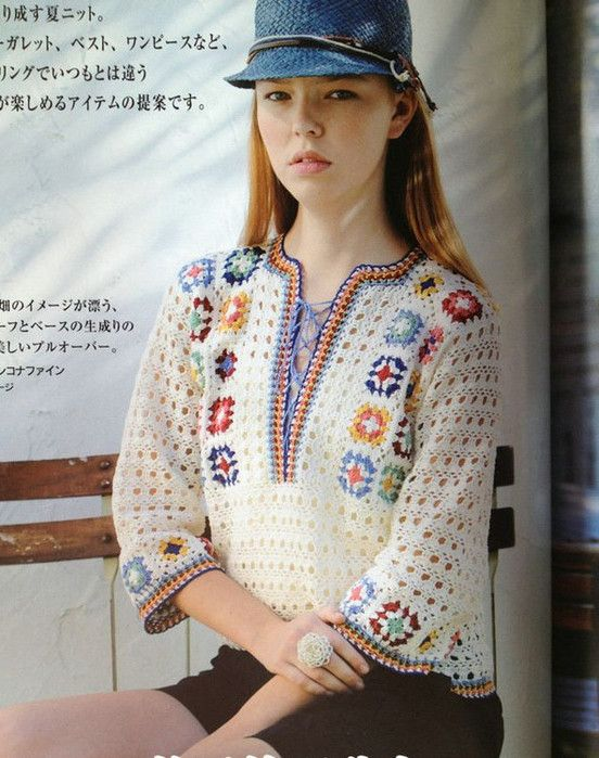 Crochet tunic  ♥LC♥ with diagrams