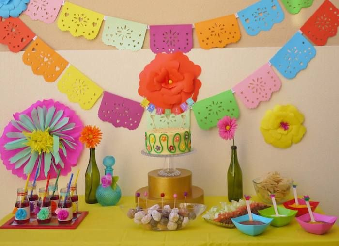 Colorful Fiesta {Mexican themed birthday party} Full of Fun Ideas via Kara's Party Ideas Kara's Party Ideas | Cake, decor, cupcakes, games and more! KarasPartyIdeas.com #fiesta #fiestaparty #mexicanfiesta #colorfulfiesta #partyideas #partydecor (3)
