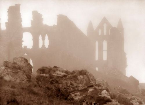 Whitby Abbey by Victorian photographer Frank Meadow Sutcliffe