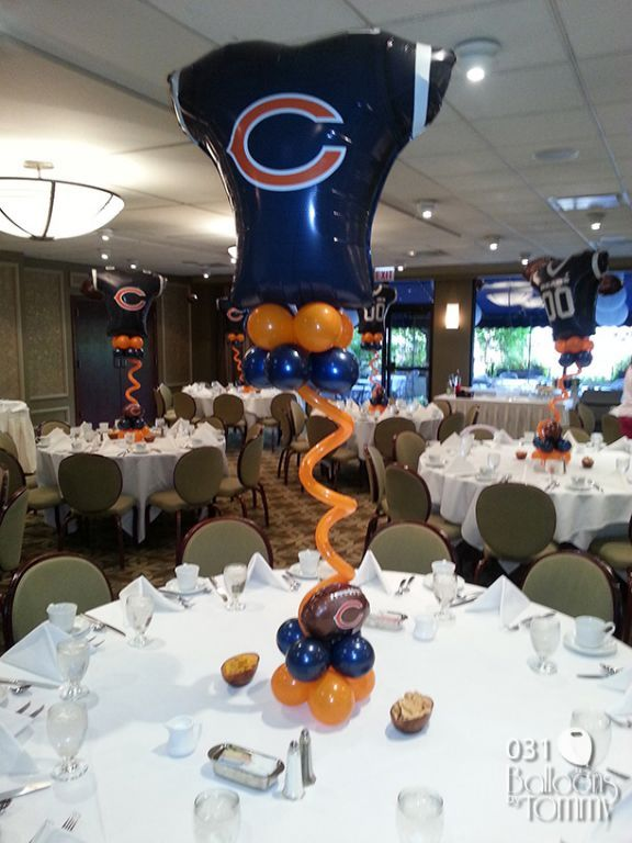 17 best images about sport balloon decoration on pinterest for Balloon decoration chicago