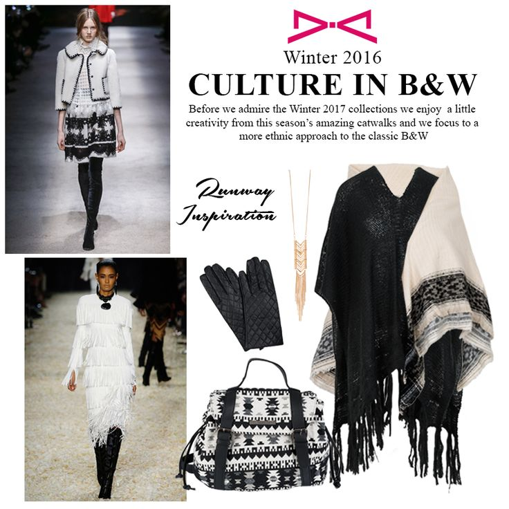 Black and White ethnic approach to our winter looks to make the chic & relaxed.