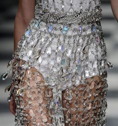 Crystal Dress, Prada Spring, Spring 2010, Summer 2010, Ice Princess, Sparkly Princess, Fashion Details, High Details, Stylish Details