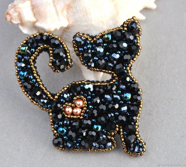 """Брошь """"Звездный кот"""" – купить в интернет-магазине на Ярмарке Мастеров с доставкой"""