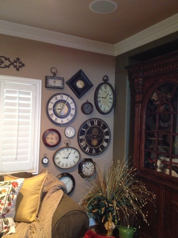 clock wall decor ideas pinterest clock and clock wall