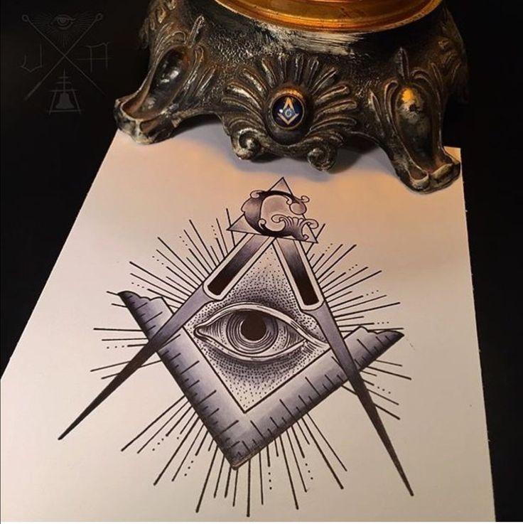 Best 25 freemason tattoo ideas on pinterest for Masonic symbol tattoos