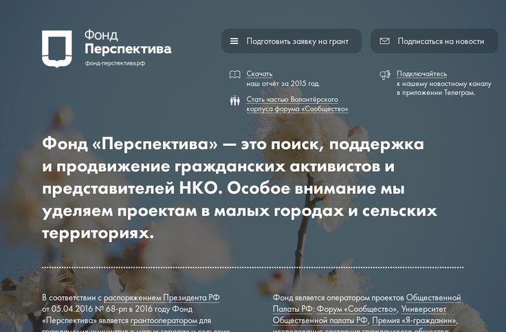 Фонд поддержки гражданской активности в малых городах и сельских территориях «Перспектива»