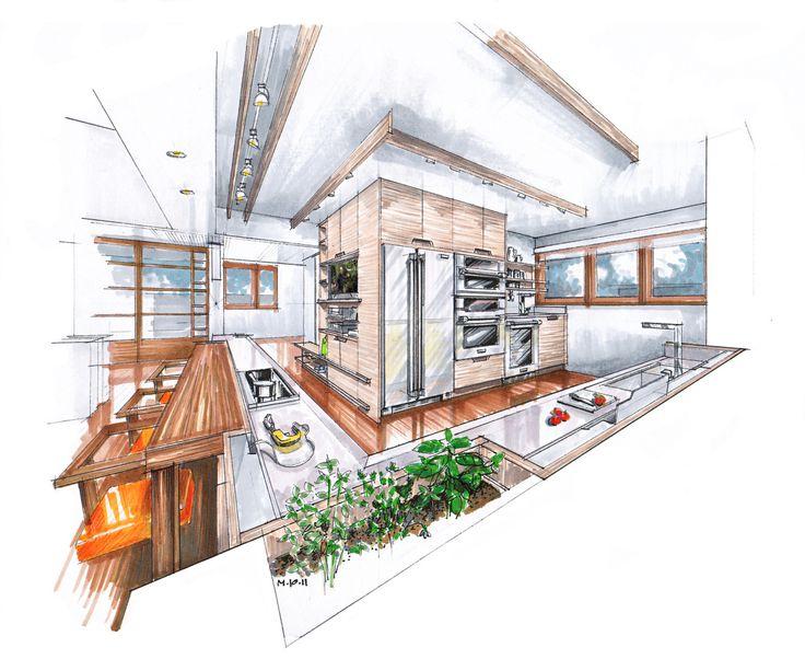 Innenarchitektur skizze küche  11 besten 01 Bilder auf Pinterest | Drawing, Skizzen und Zeichnen