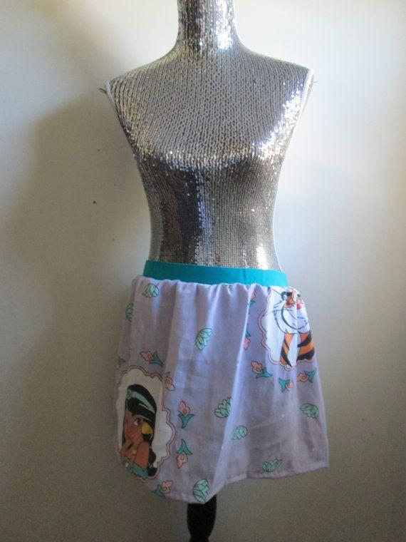 Vintage Jasmine & Raja Purple Elastic 90s Disney Skirt  by CANDYPANTSclothing, $28.00