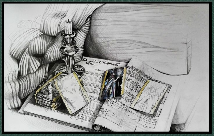 Still Life of Whimsical Objects –  Casey Richards,  24 March 2015,  Pen, Charcoal and Pencil Drawing