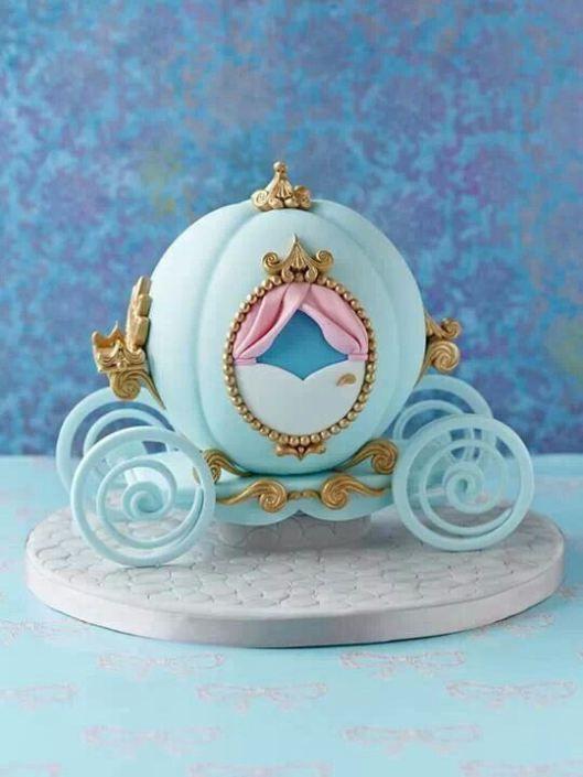 torta carruaje de cinderella