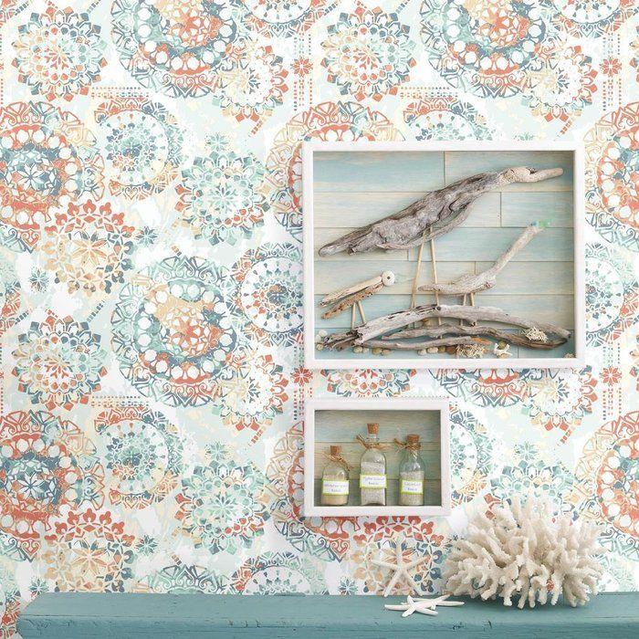 Iliana Bohemian 16 5 L X 20 W Fl And Botanical Stick Wallpaper