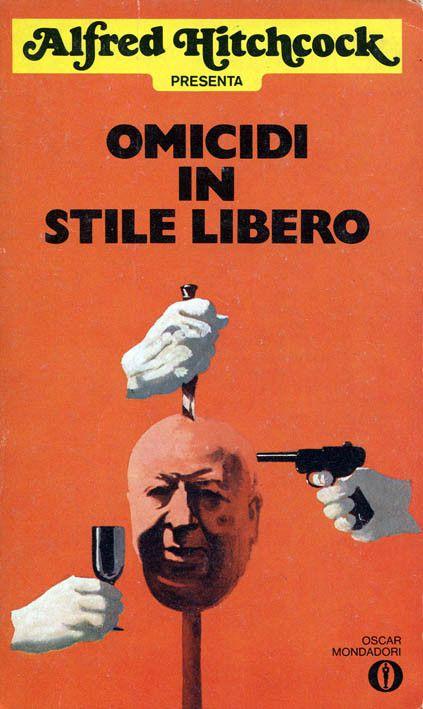 """Illustrazione di Karel Thole per """"Omicidi in stile libero"""" (The Murder Racquet, 1975), una delle antologie targate """"Alfred Hitchcock presenta"""" #Mondadori #AlfredHitchcock #KarelThole"""