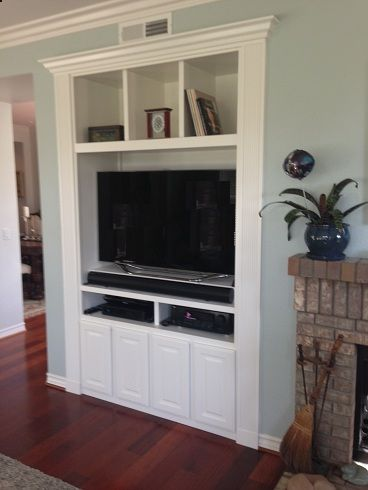 Built in for tv nook