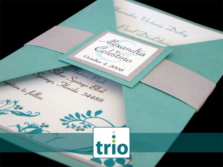 Teal Invitations Wedding: Silver Weddings