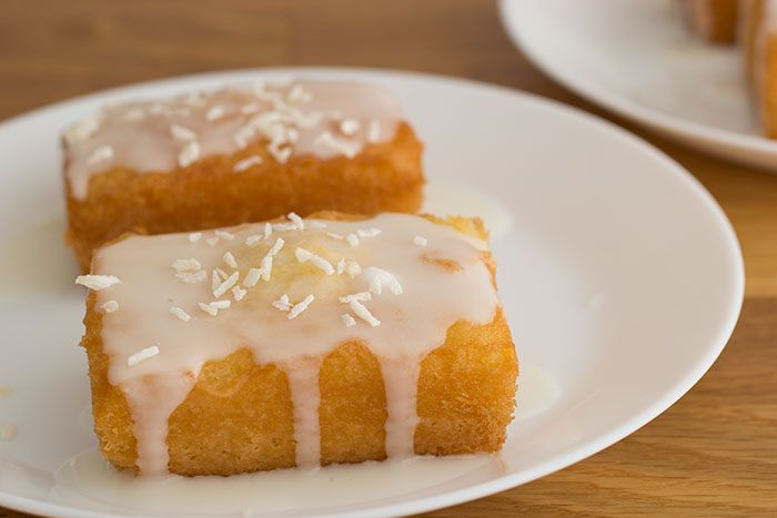 Recipe for Coconut and lemon drizzle cake. Baked for GBBO, it's easy to make and delicious. The texture is moist and the coconut gives it a lovely flavour.