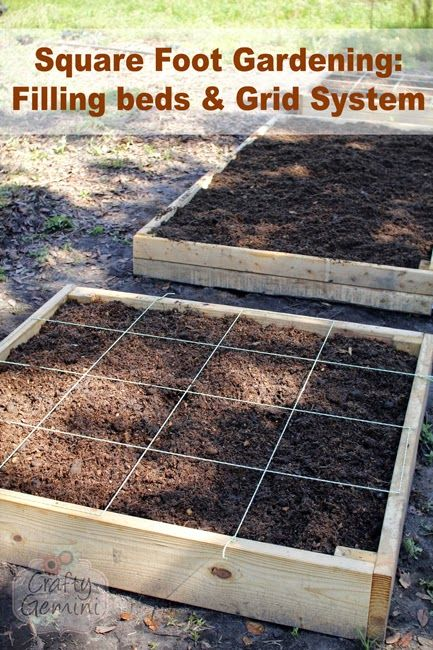 Captivating X Raised Garden Bed. How To Create Square Foot Gridded Raised Beds And Link  To Video