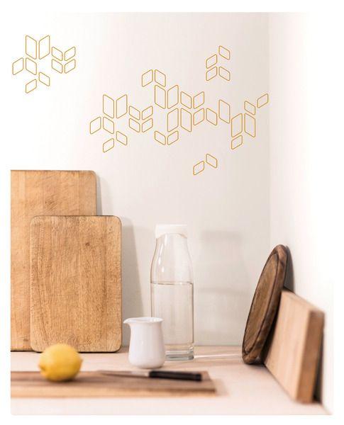 #Deko-Sticker in geometrischen Formen für Wände, Fliesen, Schränke und Co.. #Wandsticker #Design