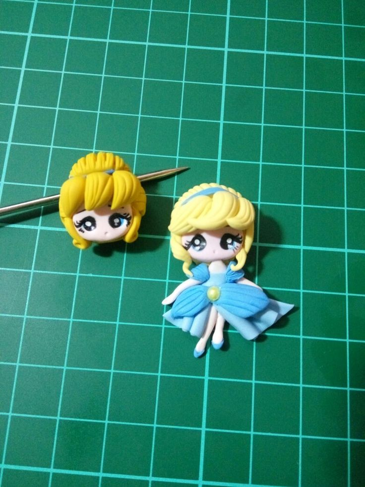 Cinderella bead for bracelet #mini2d claydoll for center bow