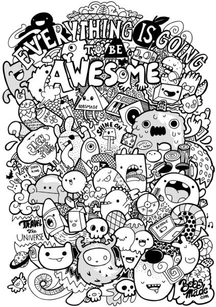 Pin by Kye on Doodles Dibujos kawaii Collage dibujos