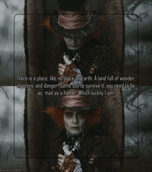Mad Hatter Quotes: 17 Best Images About The Mad Hatter On Pinterest