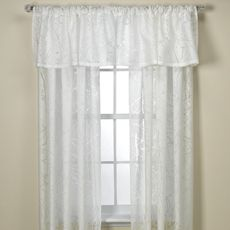 Branchbrook Sheer Window Panels And Valance Bed Bath Beyond White Sheer Tree Branches On